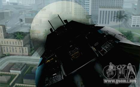 F-16C Fighting Falcon Aggressor BlueGrey para GTA San Andreas vista hacia atrás