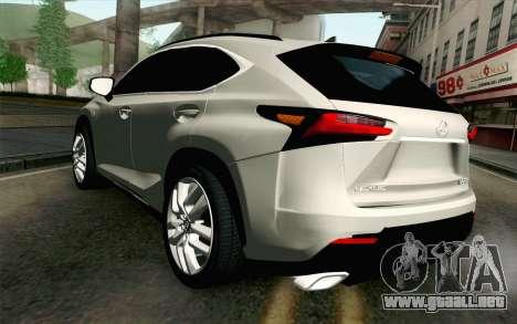 Lexus NX 200T v2 para GTA San Andreas left