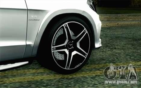 Mercedes-Benz GL63 AMG 2014 para GTA San Andreas vista posterior izquierda