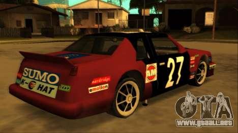 Beta Hotring Racer para visión interna GTA San Andreas
