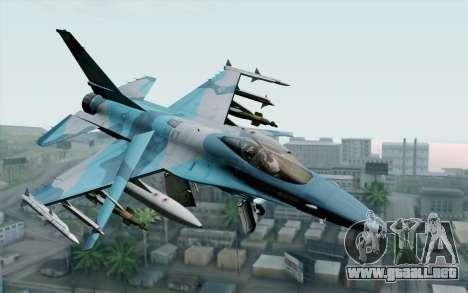 F-16C Fighting Falcon NSAWC Blue para GTA San Andreas