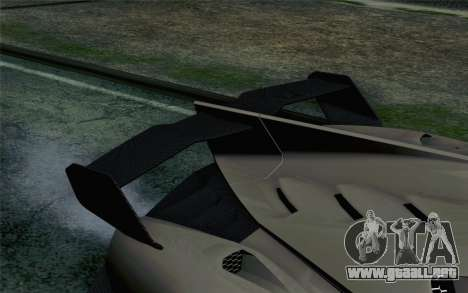 NFS Rivals Lamborghini Veneno para GTA San Andreas vista hacia atrás