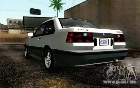 GTA 5 Karin Futo IVF para GTA San Andreas vista hacia atrás