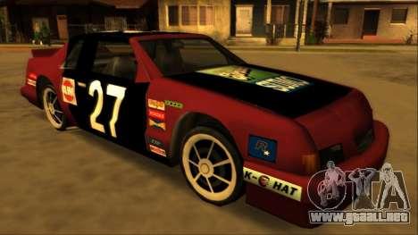 Beta Hotring Racer para GTA San Andreas vista posterior izquierda