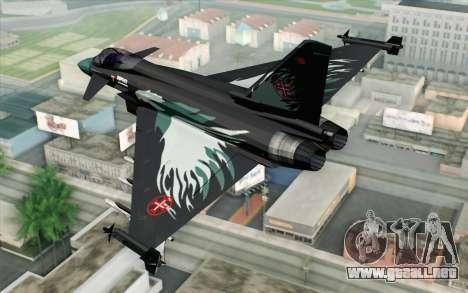 EuroFighter Typhoon 2000 Black Hawk para GTA San Andreas left