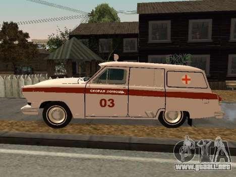 GAS 22 de ambulancia para GTA San Andreas left