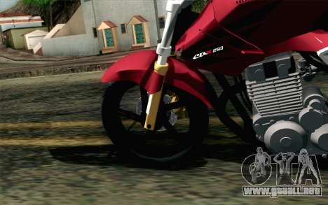 Honda Twister 250 v2 para GTA San Andreas vista posterior izquierda