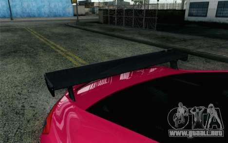 Honda Civic SI 2013 para GTA San Andreas vista hacia atrás