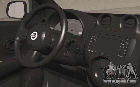 Nissan Micra para la visión correcta GTA San Andreas