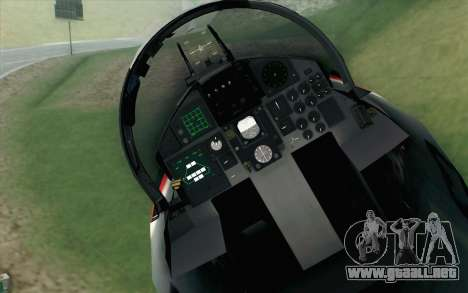 F-15J Kai 60th Anniversary of JASDF para GTA San Andreas vista hacia atrás