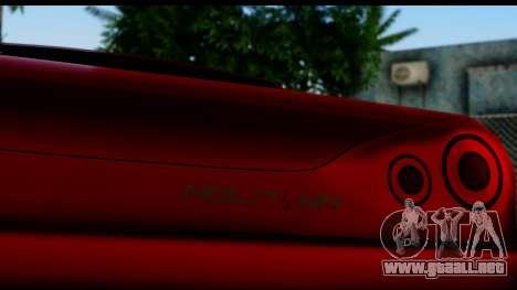 Elegy by Molniya para GTA San Andreas vista posterior izquierda