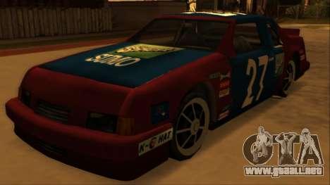 Beta Hotring Racer para GTA San Andreas vista hacia atrás