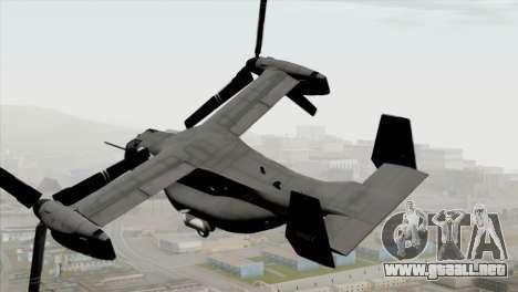 MV-22 Osprey USAF para GTA San Andreas left