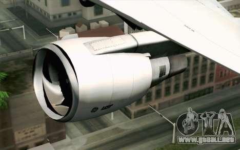 Boeing 767-300 PLL LOT para GTA San Andreas vista hacia atrás