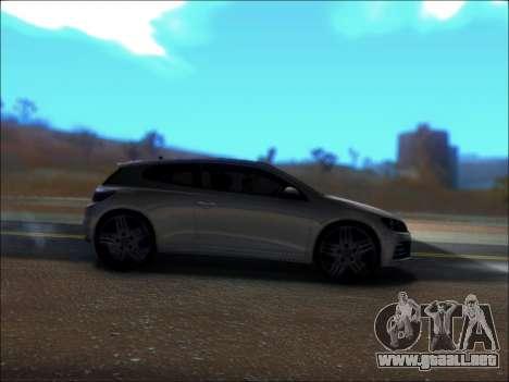 Volkswagen Scirocco Tunable para GTA San Andreas vista hacia atrás