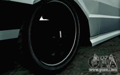 Fiat Uno Fire para GTA San Andreas vista posterior izquierda