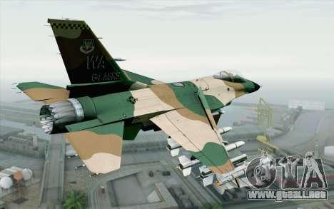 F-16C Fighting Falcon Aggressor 272 para GTA San Andreas left