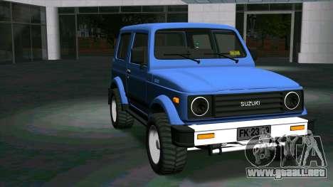 Suzuki Samurai para GTA San Andreas vista hacia atrás