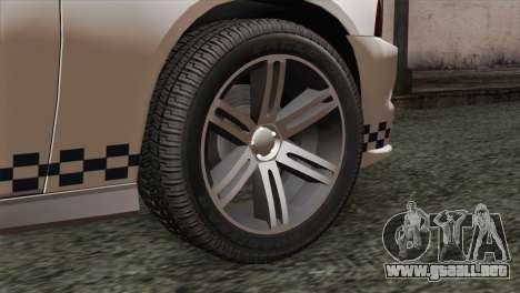 Dodge Charger SXT Premium 2014 para GTA San Andreas vista posterior izquierda