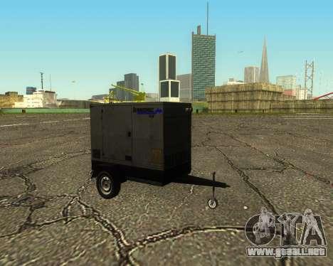 Multi Utility Trailer 3 in 1 para GTA San Andreas vista hacia atrás