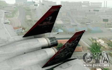 F-15J Kai 60th Anniversary of JASDF para GTA San Andreas vista posterior izquierda