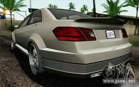 GTA 5 Benefactor Schafter IVF para la visión correcta GTA San Andreas