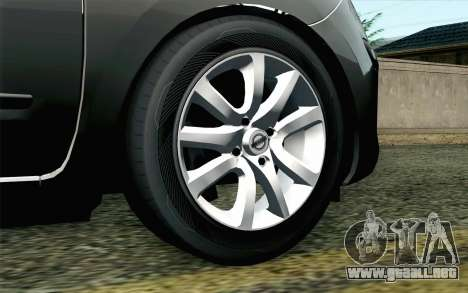 Nissan Micra para GTA San Andreas vista posterior izquierda
