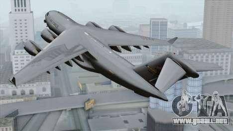 C-17A Globemaster III USAF McGuire para GTA San Andreas left