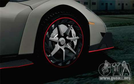 NFS Rivals Lamborghini Veneno para GTA San Andreas vista posterior izquierda