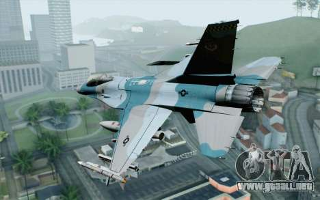 F-16C Fighting Falcon Aggressor BlueGrey para GTA San Andreas left