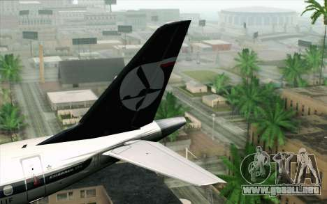 Embraer EMB-175 LOT Polish Airlines para GTA San Andreas vista posterior izquierda