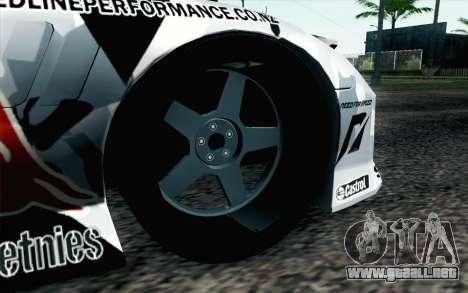 Mazda RX-7 MadMike para GTA San Andreas vista posterior izquierda