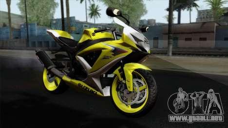 Suzuki GSX-R 2015 Yellow & White para GTA San Andreas