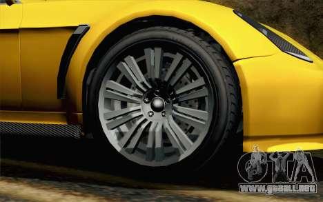 GTA 5 Dewbauchee Exemplar para GTA San Andreas vista posterior izquierda