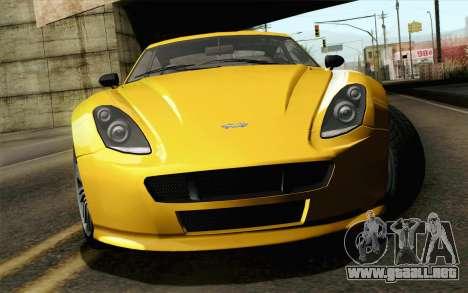 GTA 5 Dewbauchee Exemplar para GTA San Andreas vista hacia atrás
