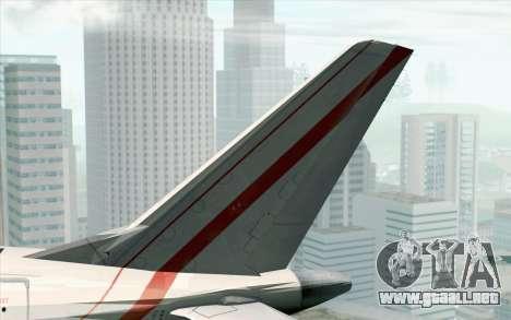 Embraer EMB-175 Republic Of Poland para GTA San Andreas vista posterior izquierda