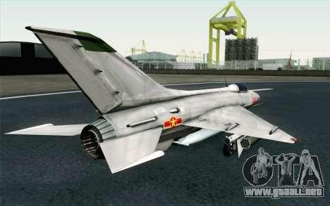 MIG-21 Fishbed C Vietnam Air Force para GTA San Andreas left
