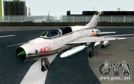MIG-21UM Vietnam Air Force para GTA San Andreas
