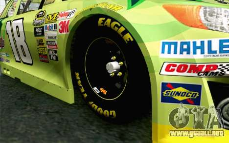 NASCAR Toyota Camry 2013 v4 para GTA San Andreas vista posterior izquierda