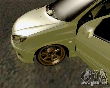 Peugeot 206 Street Racer Tuning para visión interna GTA San Andreas