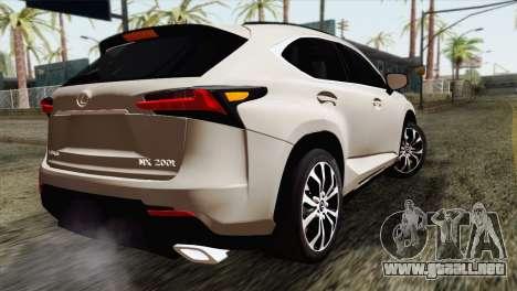 Lexus NX 200T para GTA San Andreas left