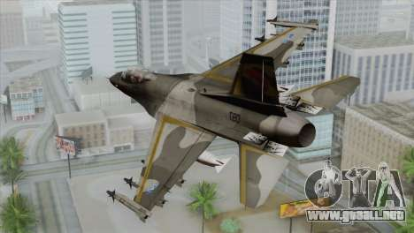F-16 Scarface Squadron para GTA San Andreas left