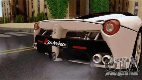 Ferrari LaFerrari 2015 para GTA San Andreas vista hacia atrás