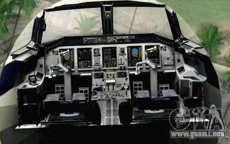 Embraer EMB-175 LOT Polish Airlines para GTA San Andreas vista hacia atrás