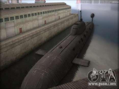 NPS proyecto 941 Akula para GTA San Andreas segunda pantalla