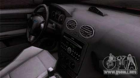 Ford Focus ST Tunable para la visión correcta GTA San Andreas