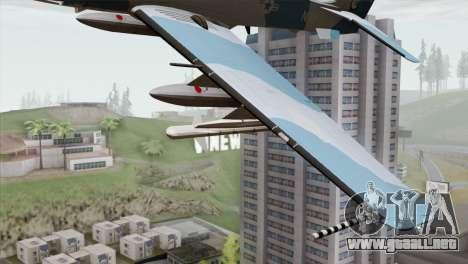 Embraer A-29B Super Tucano Navy Blue para la visión correcta GTA San Andreas