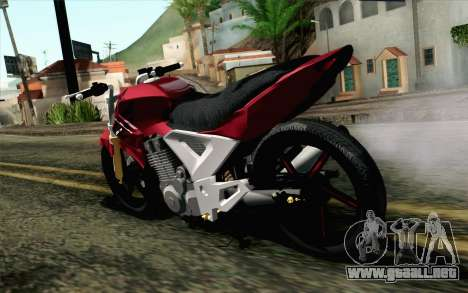 Honda Twister 250 v2 para GTA San Andreas left