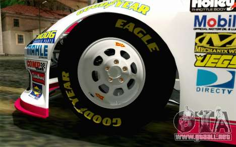 NASCAR Toyota Camry 2012 Plate Track para GTA San Andreas vista posterior izquierda