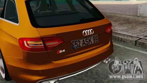 Audi S4 Avant 2013 para la visión correcta GTA San Andreas